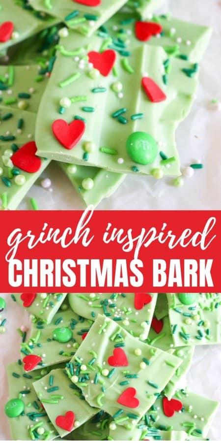 Grinch Inspired Christmas Bark Recipe