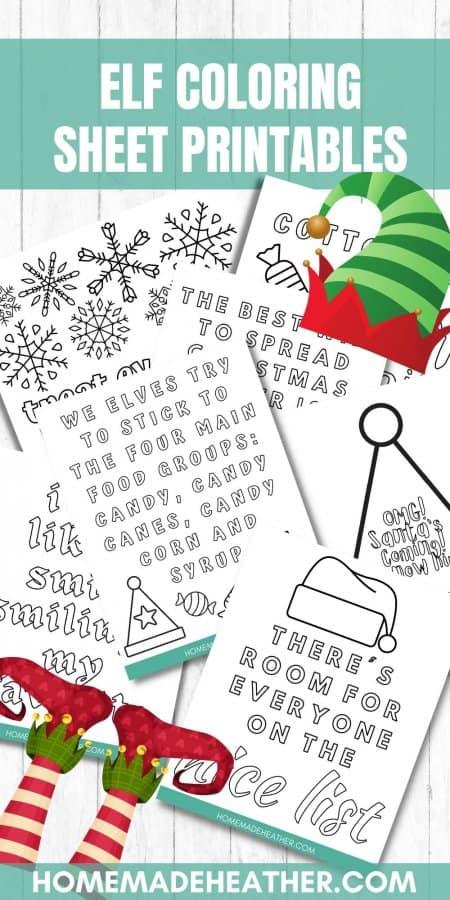 Free Elf Coloring Page Printables