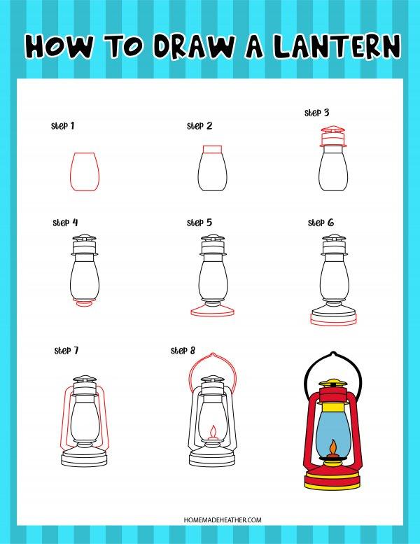 Free Drawing Lantern Printable