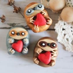 Clay Sloth Magnet Craft