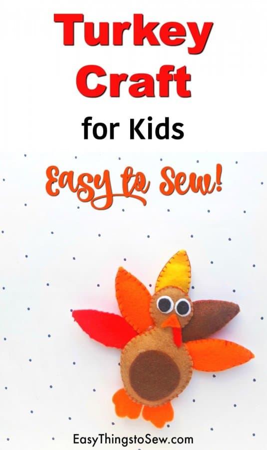 Easy to Sew Turkey Craft