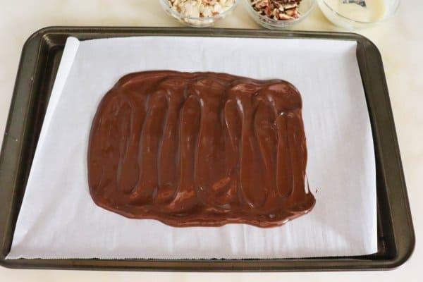 Keto Chocolate Bark Process