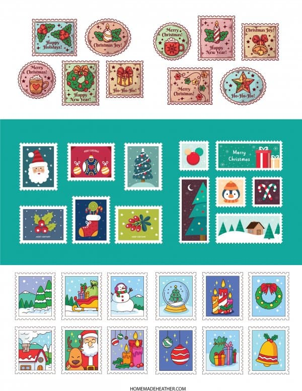 Letter to Santa Printable Stamps