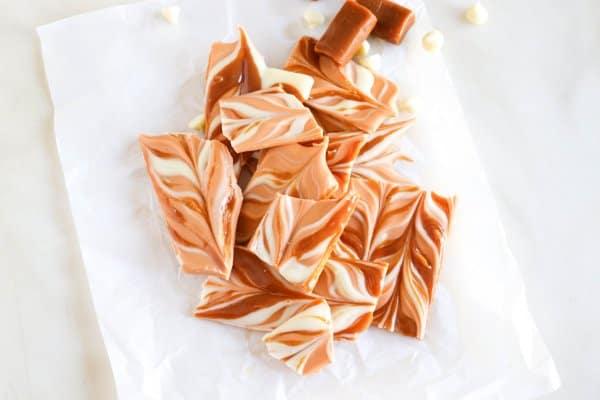 Pumpkin Spice Caramel Bark Recipe