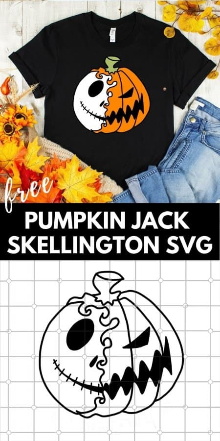 Pumpkin Jack Skellington SVG