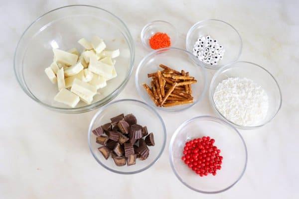 White Chocolate Snowman Bark Ingredients