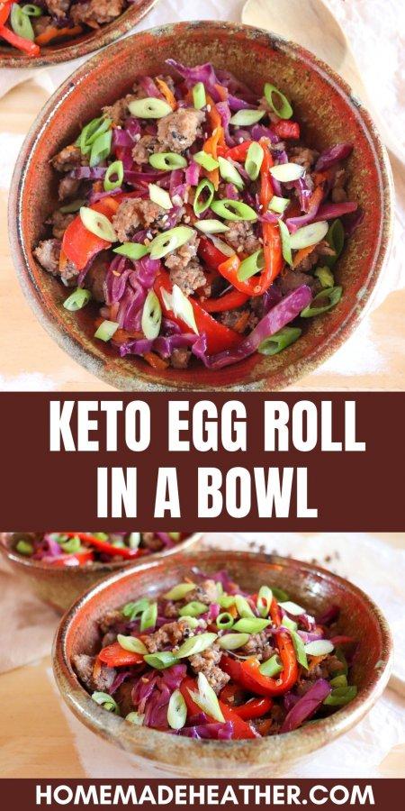 Keto Egg Roll in a Bowl Recipe