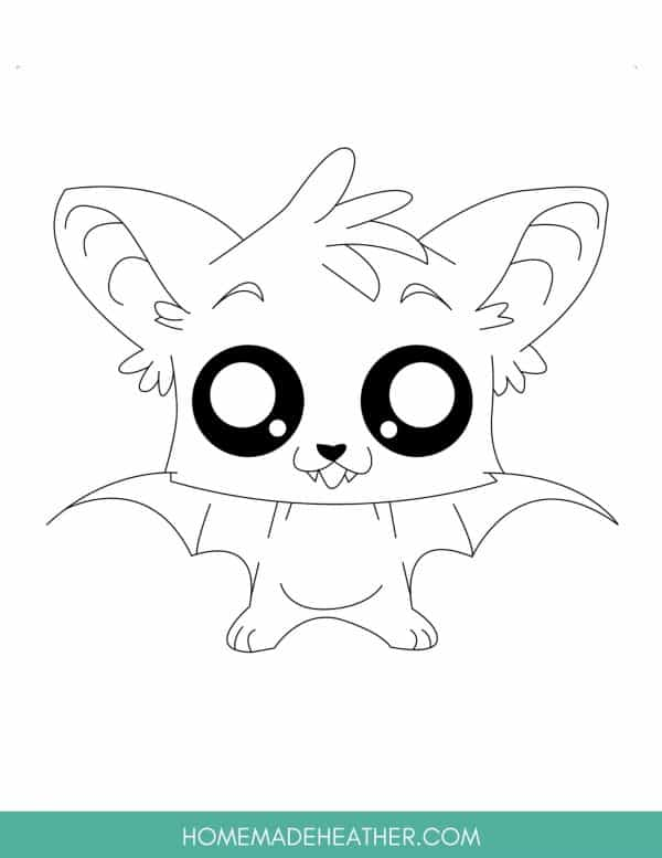 Free Cute Animal Coloring Page