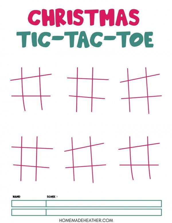 Free Christmas Tic Tac Toe Printable