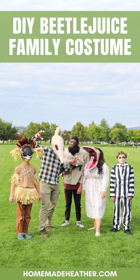 DIY Beetlejuice Family Costume