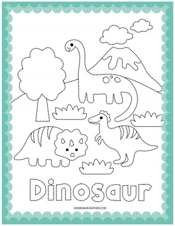 Dinosaur Printable Coloring Sheet