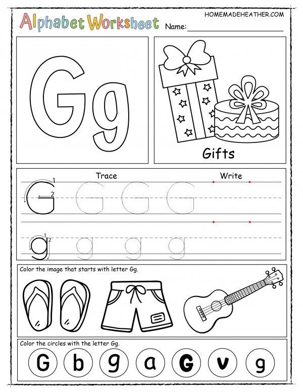 Letter G Printable Worksheet