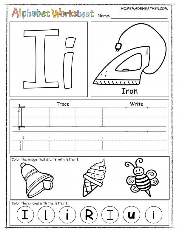 Letter I Printable Worksheet