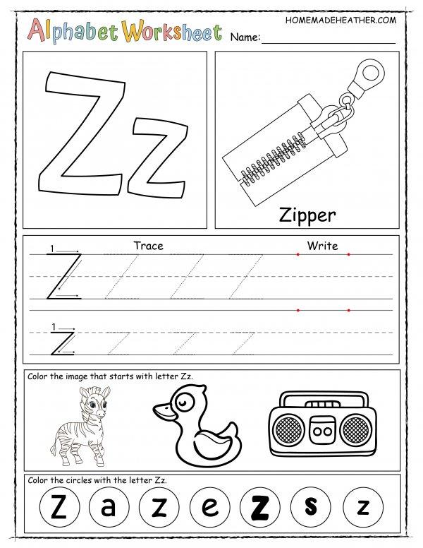 Letter Z Printable Worksheet