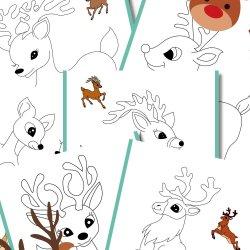 Free Reindeer Coloring Pages