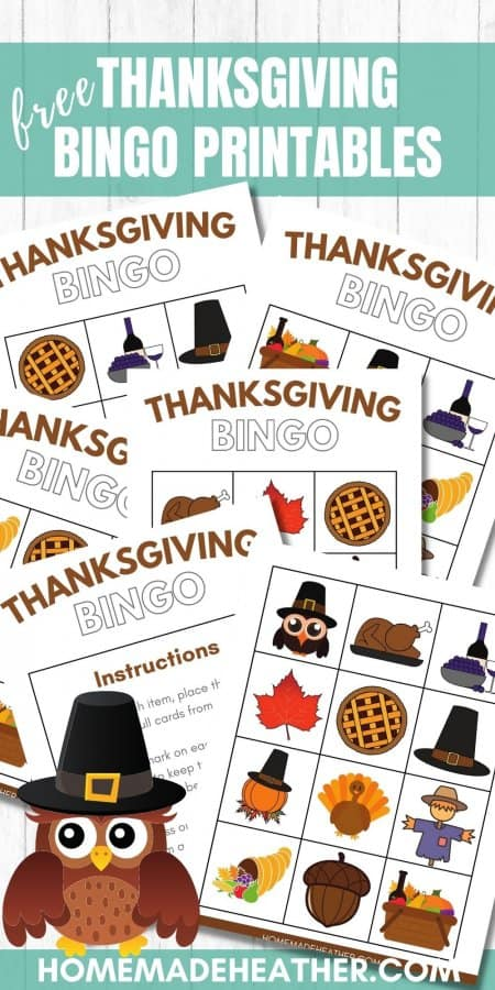 Free Thanksgiving Bingo Printables