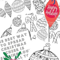 Ornament Coloring Page Printables