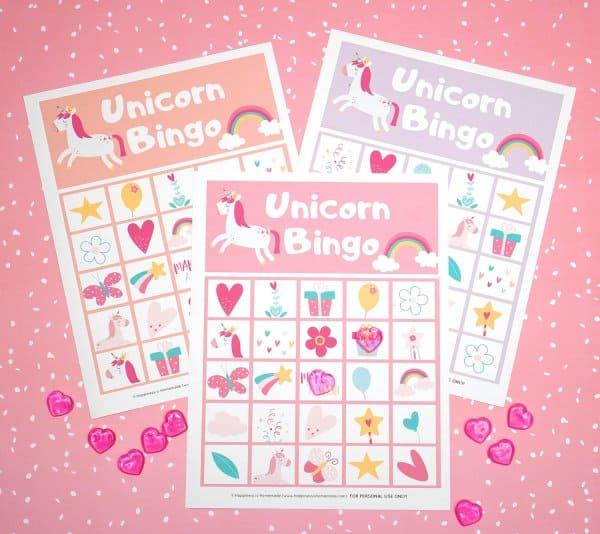Unicorn Printable Bingo