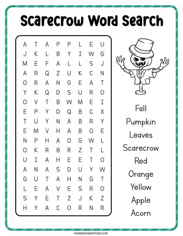 Scaecrow Word Search