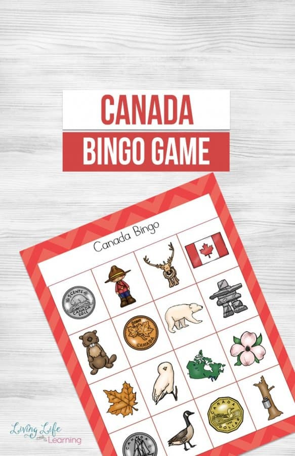 Canada Bingo Printable