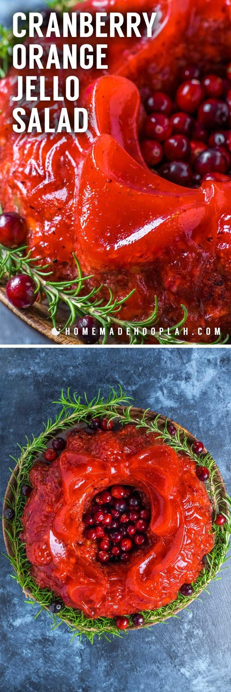 Salad Jello Raspberry Walnuts Cranberry