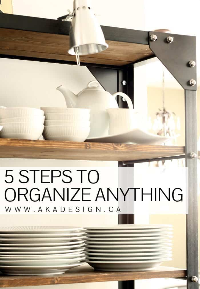 5 STEPS TO ORGANIZE ANYTHING