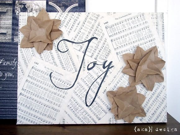 DIY Project: Embellished Joy Canvas