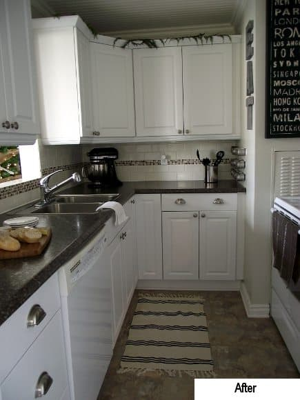 Our Bungalow Before & After: Kitchen {2009 & 2011}