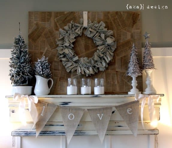 Neutral Country Chic Christmas Home Tour and Mantel PLUS 4 Christmas Crafts