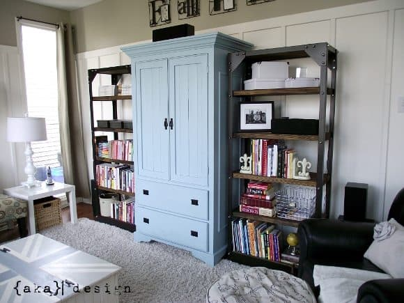 Restoration Hardware Inspired Shelves Reveal