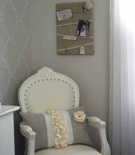 diy burlap canvas