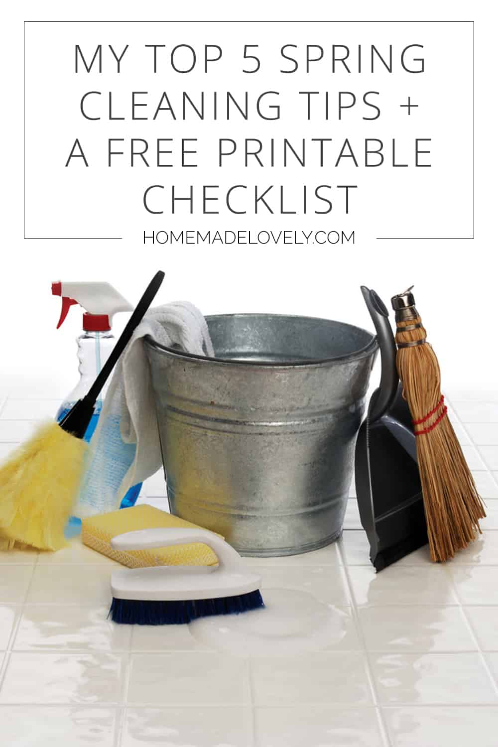spring cleaning tips and list pin