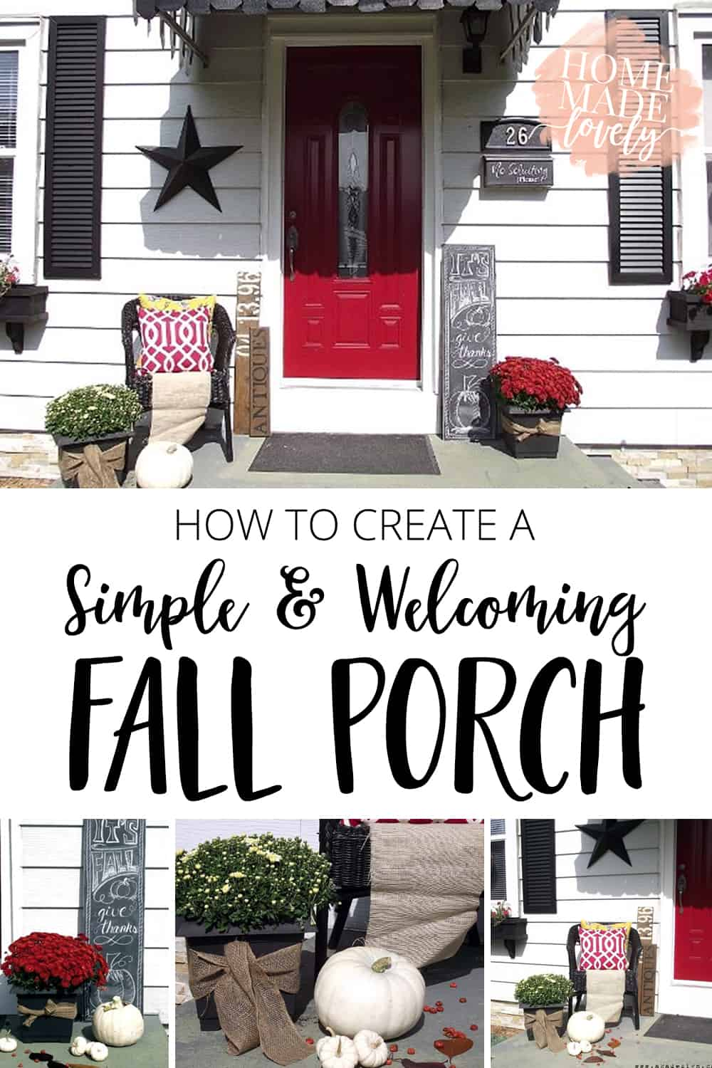 How to Create a Simple Welcoming Fall Porch pin