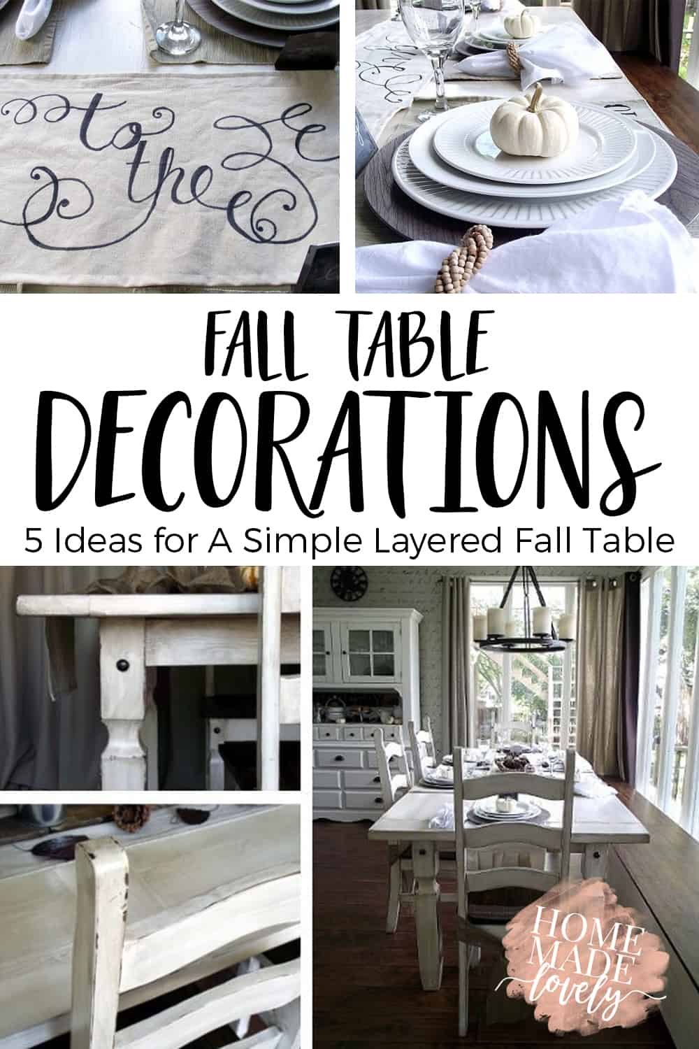 fall table decorations