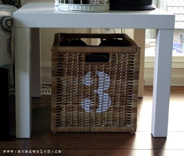 DIY Industrial Numbered Baskets for Stylish Storage