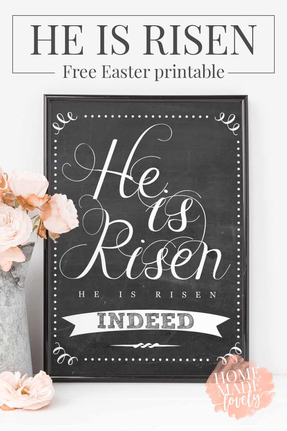 photograph relating to He is Risen Printable named He Is Risen Easter Printable