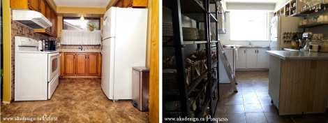 kitchen renovation before and progress