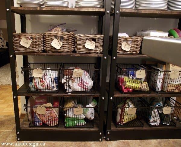 open pantry shelving