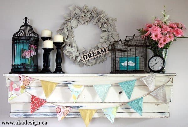 Colorful & Whimsical Summer Mantel or Shelf Decorating Ideas