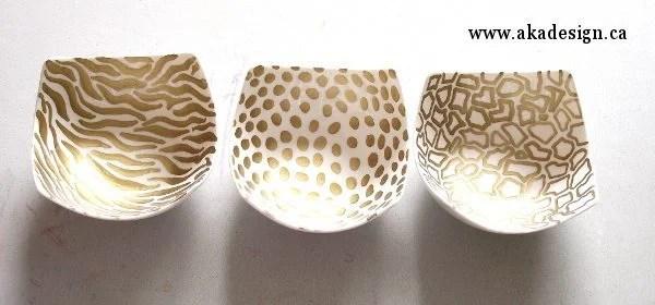three bowls doodled