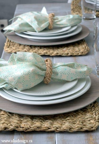 how to make cloth napkins placesetting
