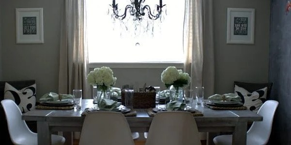 modern country dining room source list