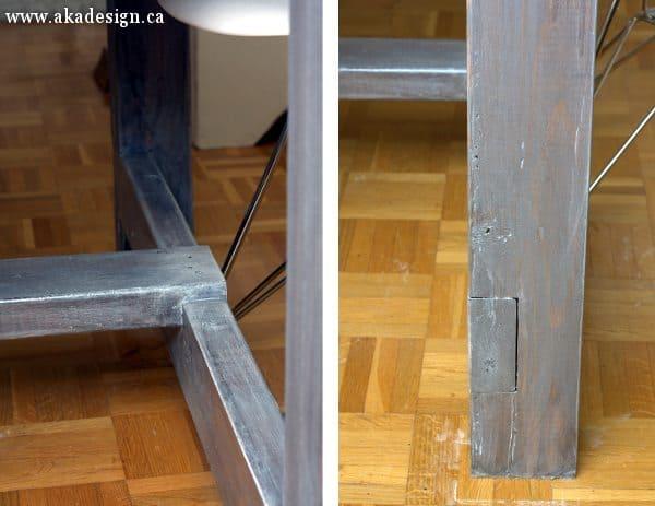 farmhouse table leg detail