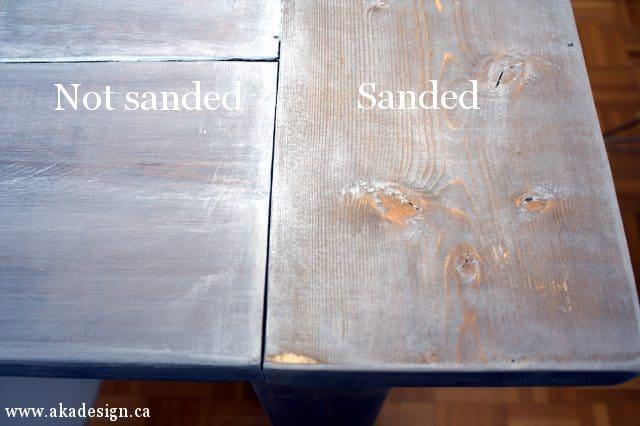 sanded vs unsanded