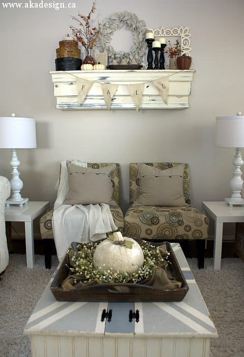 fall mantel living room chairs