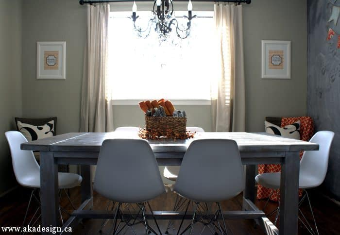 give thanks fall prints in dining room