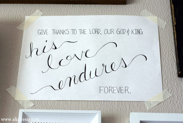 his love endures forever script art 1