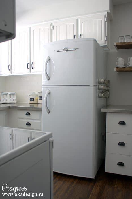 kitchen progress fridge
