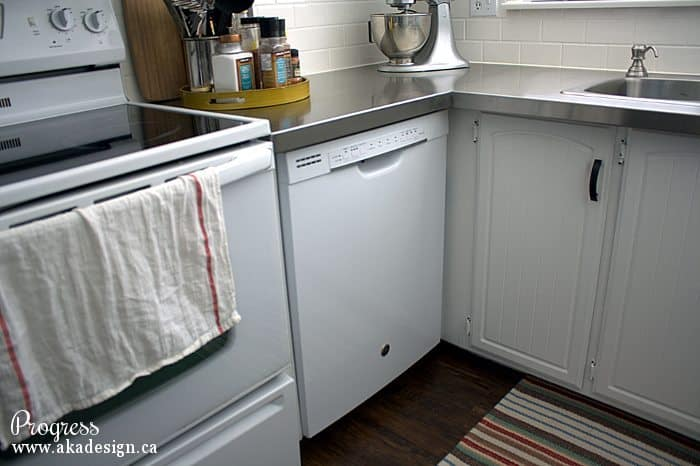 kitchen progress new dishwasher