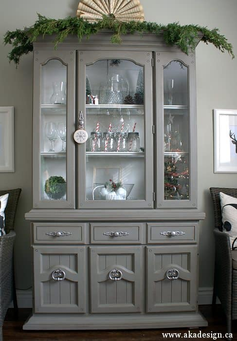 grey tweed hutch
